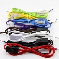 Wholesale 1 m pieces lamp supply cord with switch electrical wire core power plug line DIY accessories bedside button switch