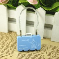 Wholesale Different colors of lock password in the same price with square and round type which is creative and fashionable