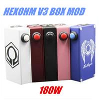 <b>Hexohm V3</b> Box Mod 180W Pantalla LCD de 2 * 18650 510 eGo hilo magnético Contraportada calor eficientemente Vape Mods