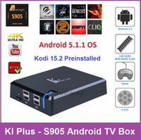 Cheap KI Plus Android TV Box K1 Plus Amlogic S905 Quad Core Android 5.1 1G 8G IPTV Smart TV Box KODI 15.2 4K H.265 Media Player 10p