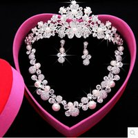 man made diamond - In Stock Designer Sexy Men Made Diamond Earrings Necklace Party Prom Formal Wedding Jewelry Set Bridal Accessories ZYY