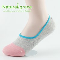 anti friction socks - pairs cotton Invisible Sock Slippers antibacterial anti friction Silicone women socks