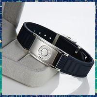 balance static - B90D001 Noproblem ion balance band health titanium anti static magnetic tourmaline jewelry far infrared energy bracelets bangles