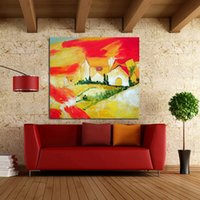 beautiful house painting - Handpainted Pictures Lovely House Art on Canvas Modern Beautiful Wall Stickers Decorative Oil Paintings