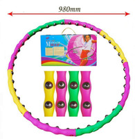 Wholesale Plastic Removable Magnetic Massage Hula Hoops Combined Hula Hoop lose weight