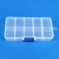 Wholesale Plastic Adjustable Jewelry Compartment Beads Box Storage Box Compartments