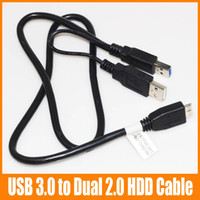 Cheap HDD Cable Best USB 3.0 to Dual USB 2.0