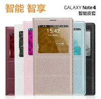 Cheap Best Quality wake sleep window flip leather case cover for Samsung Galaxy S5 I9600 Note 3 4 A3 A5 A7 S6 with IC Chip & Retail package