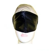 leather bondage gear - Sex product bondage adult products PVC eye mask gear Black patent leather goggles