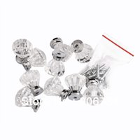 Wholesale New Set Clear Drawer Pull Knob Cabinet Dresser Cupboard Bin Handle Decoration DIY