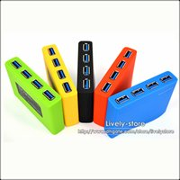 Wholesale Colorful USB Hub Port High Speed GBPS with USB Data Cable Retail package For Windows Tablet PC