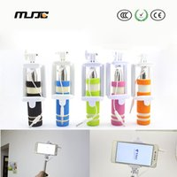 Wholesale MJJC mini selfie sticks Handheld Folding Head universal Selfie Stick Monopod for mobile phone built in Bluetooth