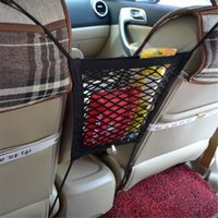 Wholesale Double Layer Car Net Organizer Pockets Net car Storage String Bag Safety Seat Storage Net Bag HO872435