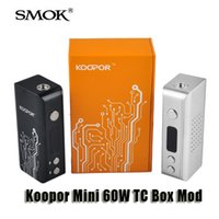 Wholesale 100 Original Smok Koopor Mini W TC Box Mod Variable Wattage W Temperature control Mod for thread Sub Ohm atomizer