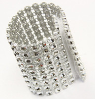 Wholesale silver wedding chair sash buckle rhinestone mesh buckle