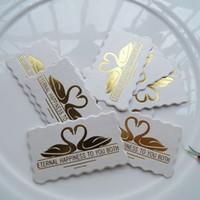 Wholesale 1000pcs CM CM white card swan wedding candy box card handmade Accessories Cardy wedding tag marriage Elevators