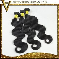 Wholesale 100 Human Hair Extension Virgin Brazilian Hair Remy Cheap Unprocessed Natural Black Body Wave Human Hair