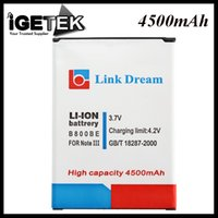 Wholesale High Capacity Phone Battery Replacement V mAh Li ion Battery for Samsung Galaxy Note III B800BE