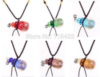 best fragrance oils - Factory Price murano lampwork glass pendants necklaces Fragrance Essential oil perfume vial bottle Best Gift Free Pipette PB53
