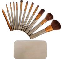 Wholesale Makeup Brushes kit for eyeshadow blusher Women Cosmetic Brushes Tool kit with Box set JJD2015