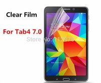 Cheap Wholesale-1000pcs Clear LCD Screen Protector Film Guard For Samsung Galaxy Tab 4 7.0 7 inch Without Retail Package Free Shipping DHL FedEx