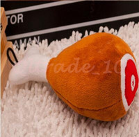 Wholesale 1000pcs CCA2976 High Quality Pet Dog Toys Sound Chicken Plush Filled Cotton Funny Dog Toys PP Cotton Pet Plush Sounds Soft Dog Chew Toys