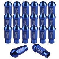 Wholesale New D1 Spec JDM Racing Wheel Lug Nuts M12X1 for Honda Ford Toyota Blue EMS DHL Mail