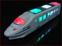 battery toy train - New Beautiful Lightning Electric Train Toy with Music goes around and changes directions on contact Battery Powered kids gift