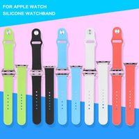 Wholesale 5pcs five colors New Arrival Rubber Silicon Strap For Apple Watch Band Case Wrist band Strap Replacement Watchband For iWatch