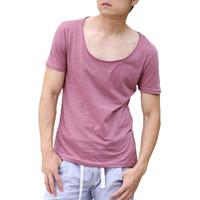 basketball tee shirt designs - Original Design Summer Muscle Fit T Shirt Men Deep Square Collar Sexy Bodybuilding T Shirt Hawaii Slid Basketball Tee Shirt