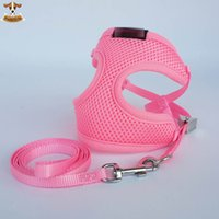 best safety vest - Best Fashion Soft Nylon Mesh Small Pet Harness Step in Breathable Dog Cat Pull Harness amp Leash Walking Safety Strap Vest