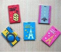 PVC baggage labels - PVC Travel Luggage Label Suitcase Tag Baggage Tag Heavy Duty Travel Bag Address Label Fashion Bag Label Color Luggage Tag LJJE433