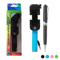 Wholesale Extendable Foldable wired selfie stick mini1 Portable super supreme mini Handheld Monopod Cable selfie stick For Smartphone Gopro Camera