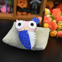 Wholesale Handmade Wool felt Cartoon Animal Owl Decoration DIY Garment Brooch Woven Crooch Jewelry Fashion Bag Pin