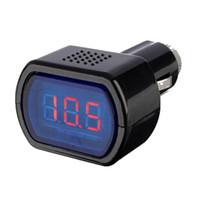 Wholesale New DC V V Car Digital LED Engine Battery Voltage Electric Volt Meter Monitor Indicator Tester Voltmeter