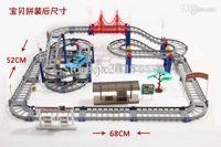 Al por mayor-juguetes libres del envío de los niños Hot Wheels ferrocarril eléctrico de escritorio bebé tren coche múltiples adapte a largo carreras