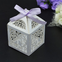 wedding gifts - 100pcs Wedding Banquet Mini Candy Box Birds Heart Design Sweet Gift Packing Chocolate Sweetmeat Holder Paper Case wc148