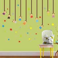 Wholesale 50 cm Cubs star pendant wall stickers For Bedroom Kids Room wall stickers decorative Wall paper removable on sale new