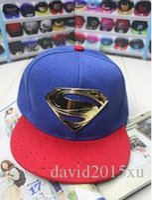 Wholesale 6 Color Snapback Baseball Caps Unisex Sports Adjustable Superman casquette Women Hats S Icon gorras Caps Casual Headwear