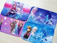 Wholesale Brand New Lovely Frozen mat Bathroom Coral velvet mats super absorbent doormat snow carpet cartoon non slip mat