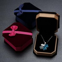 Wholesale New sale gift boxes packaging Bow jewelry box necklace box vintage jewelry box jewelry packaging boxes