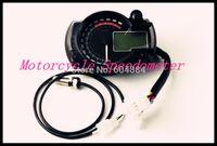 Wholesale 3Pcs New Universal Tachometers SS182 LCD Digital Motorcycle Speedometers Odometers