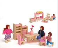 wooden kitchen sets toy - 2015 New Girls Pretend Play and Dresses up Kids Toys Girl Wooden Kitchen Room Bathroom Living rooms Child Girl Wood Playing Set D3639