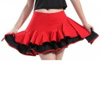 Wholesale shipping free Dancewear Spandex Beautiful Latin Dance Skirt Full Size With Boxer Brief Red