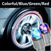 bicycle light automobiles - LED Tire Light Bicycle Wheel Light Flashlight Tyre Tire Valve Lamp Cool Drl Daytime Running Light Wheels Car Led Automobile Tyre Lamp Burst