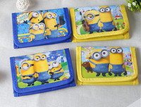 Wholesale New Arrival Children Cute Despicable Me Plush Wallets High quality cartoon Minions Fashion Wallets coin purse QB52