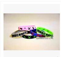 Wholesale 5 colors new fashion Christmas Promotion Minecraft wristband Minecraft bracelet Good Quality valentine s gift G454