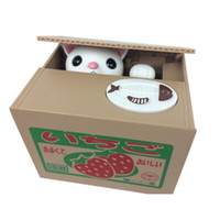 automated sales - 2015 Fashion Hot Sale Automated Cat Steal Coin Bank Piggy Bank Money Saving Box Gifts