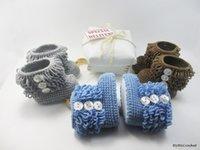 Unisex Winter Cotton 2016 Multicolor floor toddler shoes,Crochet snow boots,cotton yarn baby shoes,tassel girls  boys shoes,tassel walker shoes.9pairs 18 pcs