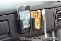 Nueva Negro del teléfono móvil / GPS / Tarjeta de coches stents Escuadra de soporte de accesorios ajustable teléfono celular del sostenedor del coche de 100
